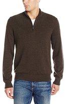 Van Heusen Men's Solid 1/4 Zip Sweater