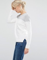 Shae Donna Block Color Sweater in Off White