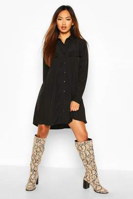 boohoo Shirt Smock Dress