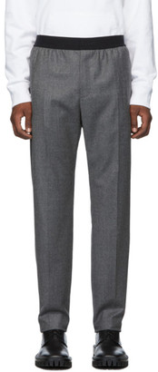 Helmut Lang Grey Flannel Pull-On Trousers