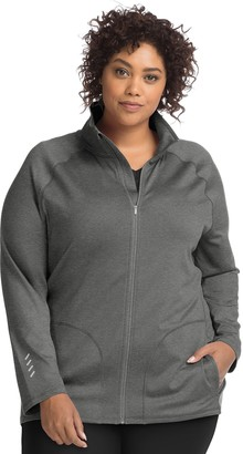 Just My Size Active Front Zip Mock-Neck Jacket