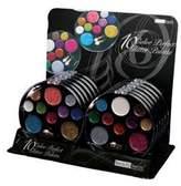 BEAUTY TREATS 10 Color Perfect Glitter Palette Display Case Set 12 Pieces