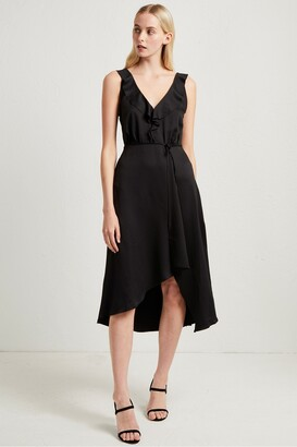 French Connection Maudie Drape Ruffle Dress