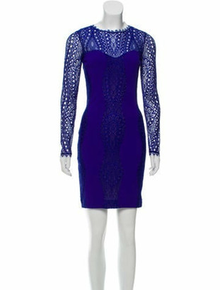 Emilio Pucci Lace-Trimmed Mini Dress w/ Tags Purple