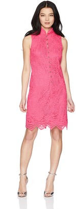 Jessica Howard JessicaHoward Women's Petite Sleeveless Embroidered Split Neck