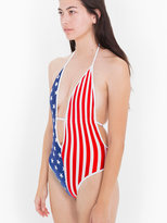 American Apparel US Flag Print Maillot-V Swimsuit
