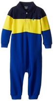 Ralph Lauren Yarn-Dyed Mesh Polo One-Piece Coveralls Boy's Overalls One Piece