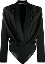 Alexander Wang Deep V Structured Ruch Bodysuit
