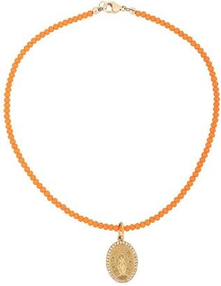 Nialaya Jewelry beaded Jesus pendant necklace