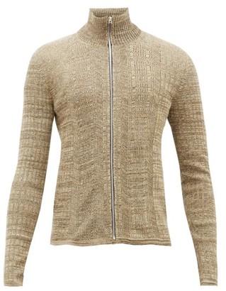 Wales Bonner Trinidad Ribbed-cotton Zip-through Sweater - Brown
