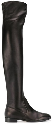 Sergio Rossi Side-Zip Over-The-Knee Boots