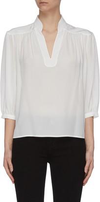 Frame 'Cali' V-neck silk top