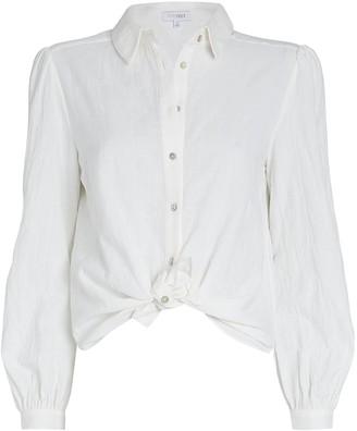 Intermix Etta Tie-Hem Cotton Blouse