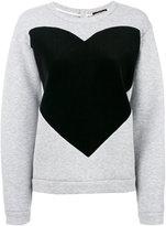 Odeeh contrast heart sweatshirt