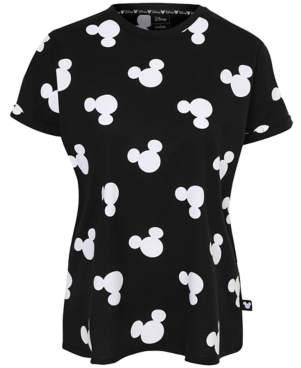 Disney George Mickey Mouse Logo Print T-Shirt