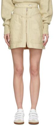 Etoile Isabel Marant Off-White Denim Ioline Miniskirt