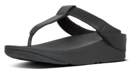 FitFlop Women's Mina Leather Toe-Thongs Sandal Women's Shoes