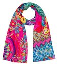desigual womens royal lila rectangle c scarf
