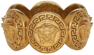 Versace Gold Logo Ring
