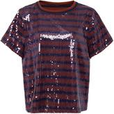 Cynthia Rowley Sequin Striped T-shirt