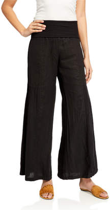 XCVI Allegra Wide-Leg Linen Pants