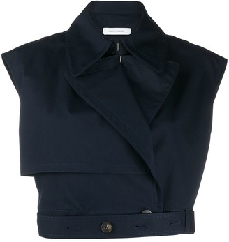 Cédric Charlier Cropped Fitted Top