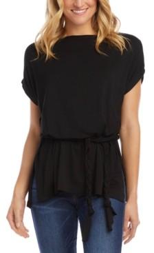Karen Kane Tie-Waist Drop-Shoulder Top