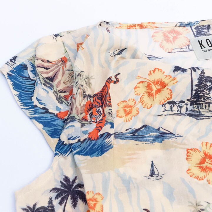 Thumbnail for your product : Komodo Sens Top In Bali Surf Print