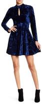 Angie Mock Neck Velvet Dress