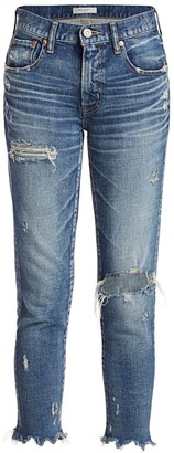 Moussy Ridgewood Distressed Skinny Jeans