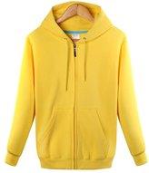 Qiuse Men's Sports & Leisure Full-Zip Fleece Hoodies with Hood