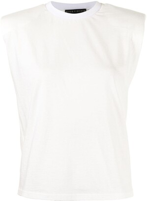 Alice + Olivia Braxton sleeveless T-shirt