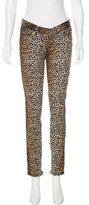 Dolce & Gabbana Leopard Print Low-Rise Jeans