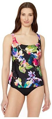 Maxine Of Hollywood Swimwear Camellia Scoop Tankini (Multi) Women's Swimwear