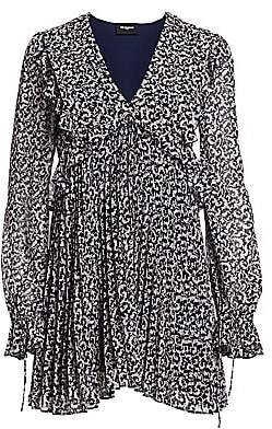 The Kooples Women's Printed Pleated Mini Dress