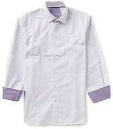 Visconti Dot Stripe Long-Sleeve Dobby Woven Shirt