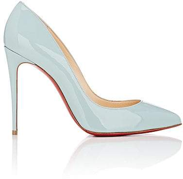 Christian Louboutin Women's Pigalle Follies Patent Leather Pumps - Nuage