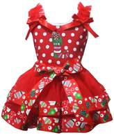 Petitebella Christmas Sock White Dot Shirt Petal Skirt Xmas Outfit Set Nb-8y
