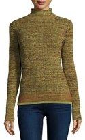 Apiece Apart Piedras Ribbed Turtleneck Sweater, Moss Marl