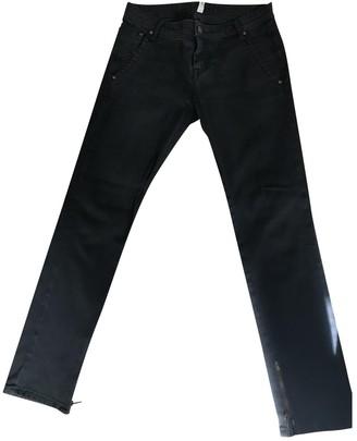Acquaverde Grey Cotton Trousers for Women
