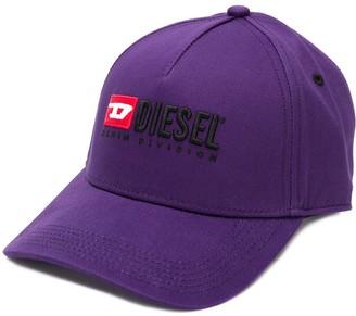 Diesel logo embroidered baseball cap