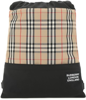 Burberry Checked Backpack