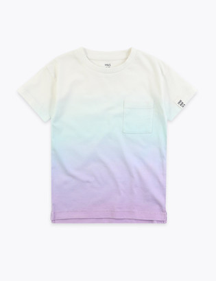Marks and Spencer Cotton Dip Dye T-Shirt (2-7 Yrs)