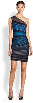 Halston One-Shoulder Dress