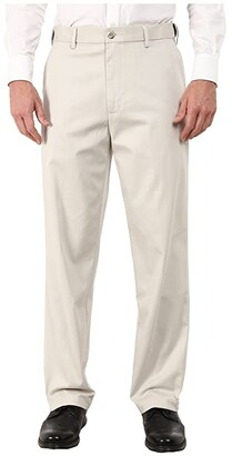 Dockers Comfort Khaki Stretch Relaxed Fit Flat Front (Porcelain Khaki) Men's Casual Pants
