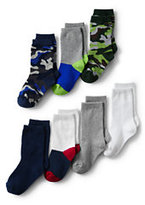 Classic Boys Patterned Socks (7-pack)-Chambray Dot