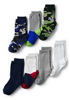 Classic Boys Patterned Socks (7-pack)-Chambray Dot
