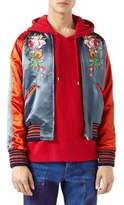 Gucci Acetate Bomber Jacket with Appliques