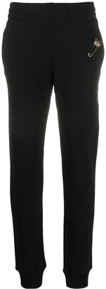 Moschino Safety Pin Embellished Slim-Fit Track Pants