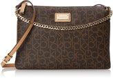 Calvin Klein Monogram Zip Cross Body Bag